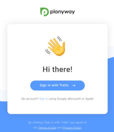 Planwayにサインイン