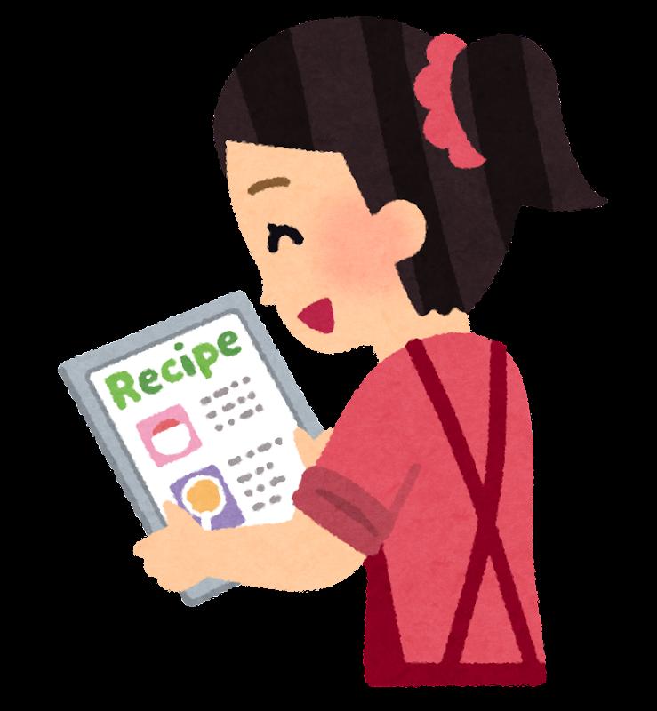 タブレットでレシピ確認